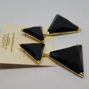 Amrita Singh Jewelry - Amrita Singh jet black Bermuda earrings